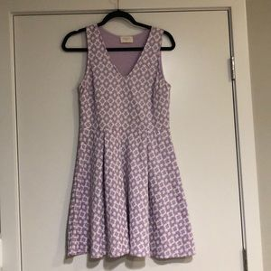 Every Purple & White Mini Dress SZ L